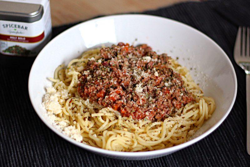 Pasta mit Bolognese
